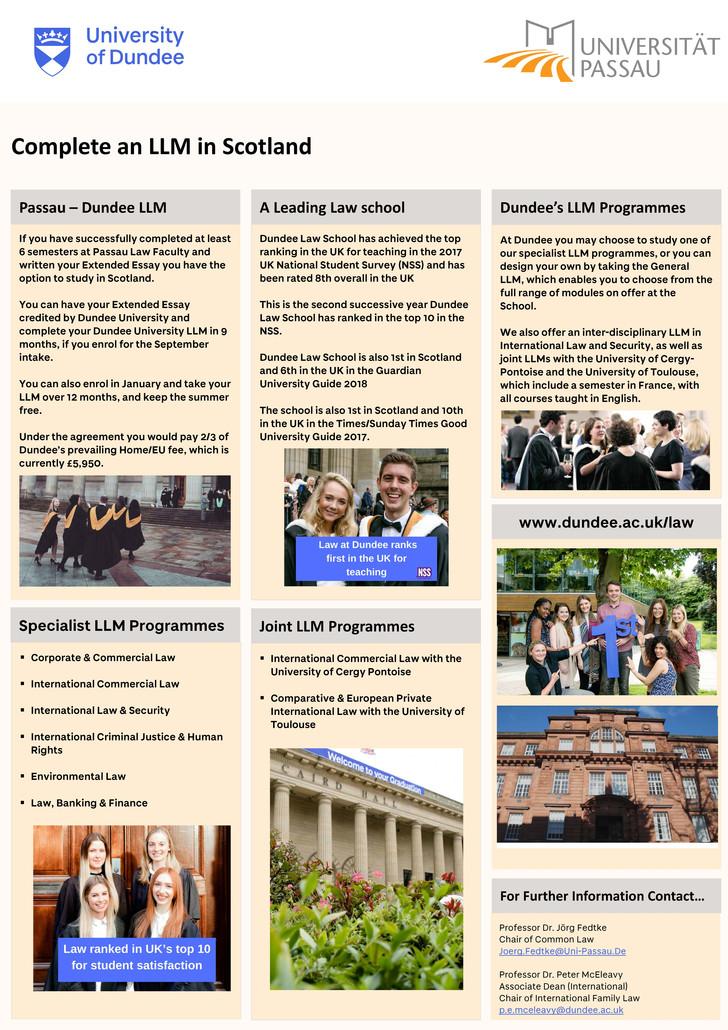 Ll M Programs University Of Passau